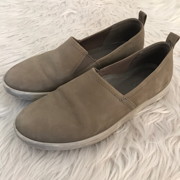 bee39e57b11 Ecco Shoes | Warm Gray Aimee Slip On Sneakers | Poshmark
